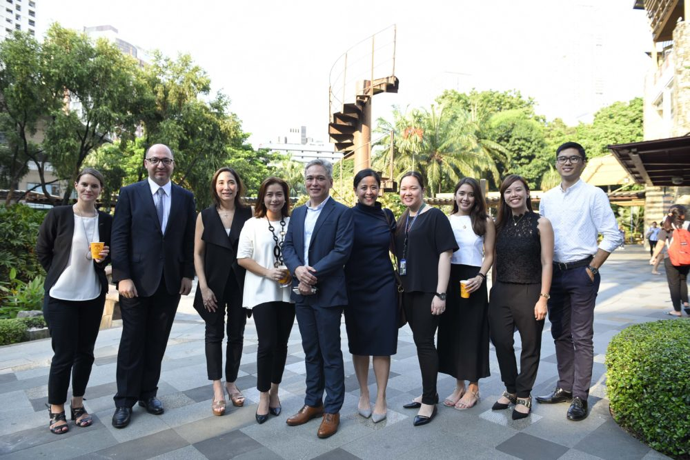 Eiffel Tower stairs travelled in the Philippines Ayala Group, under the patronage of the French Embassy